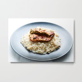 Chicken and Rice Metal Print