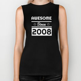 Awesome Since 2008 11th Years Old Shirt 11 Birthday Gift Biker Tank