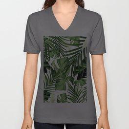 Tropical Jungle Leaves Pattern #12 #tropical #decor #art #society6 Unisex V-Ausschnitt