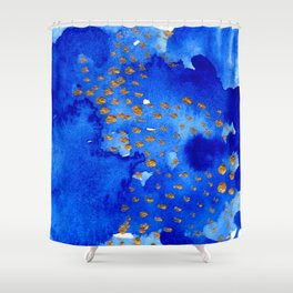 gold snow I Shower Curtain