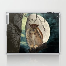 Great Horned Owl Bird Moon Tree A138 Laptop & iPad Skin