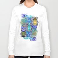 quilt Long Sleeve T-shirts featuring Scarabs Quilt by Vannina