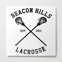beacon hills lacrosse logo Metal Print