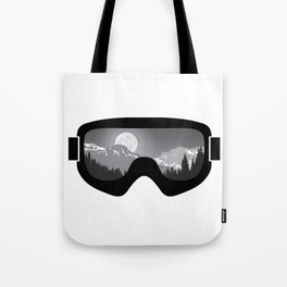 Moonrise Goggles - B+W - Black Frame | Goggle Designs | DopeyArt Tote Bag