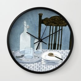 Still life with dried herbs Wall Clock