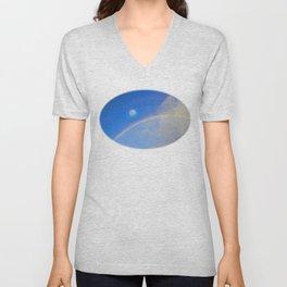 Rainbow Moon-Crystal Ball Unisex V-Neck