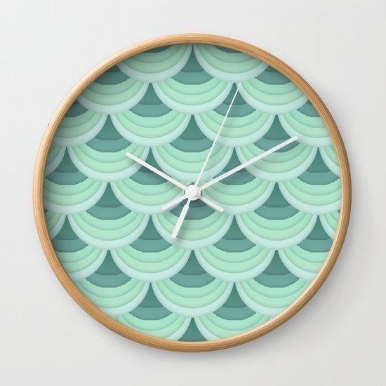 Ocean Fan Tail. Wall Clock