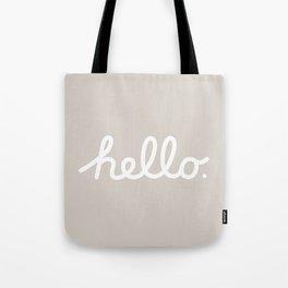 Hello: The Macintosh Office (Beige) Tote Bag