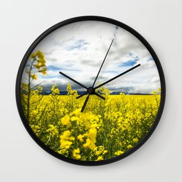 Fields of yellow Wall Clock
