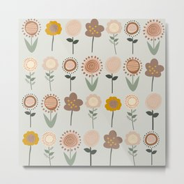 Abstract flower bed Metal Print