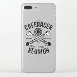 Cafe Racer Reunion Vintage Tools Poster Clear iPhone Case