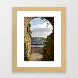 Keyhole View Framed Art Print