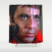 scarface Shower Curtains featuring Al Pacino @ Scarface #1 by Gabriel T Toro