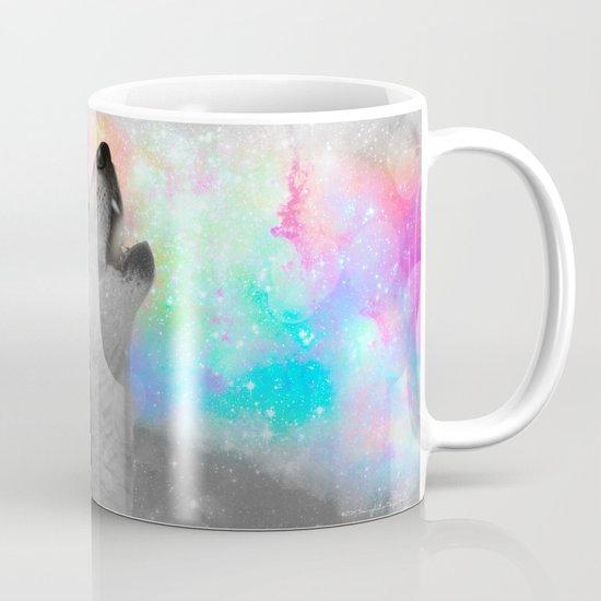 Breathing Dreams Like Air (Wolf Howl Abstract II: Gray) Mug