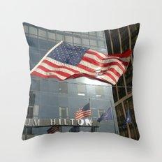 Flag Stars & Stripes Millenium Hilton Ground Zero Throw Pillow