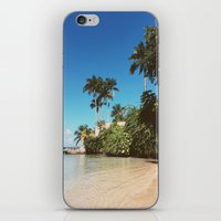 jamaica iPhone & iPod Skins featuring Jamaica palm trees by Samantha Lena Photography