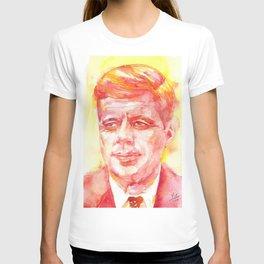 JOHN F. KENNEDY - watercolor portrait.3 T-shirt