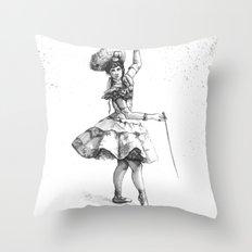 Equestrian Dancer Throw Pillow