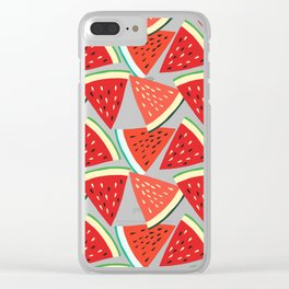 Sliced Watermelon Clear iPhone Case