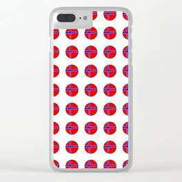 flag of norway 13 – polka dot version Clear iPhone Case