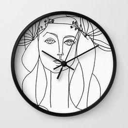 Head 1946 Abstract Fantasy Print Wall Clock