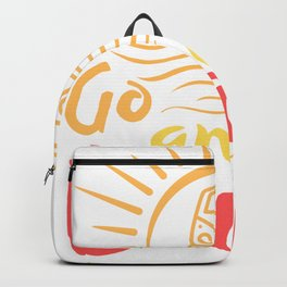 Bus Lifestyle Saying Go Far And Beyond Backpack