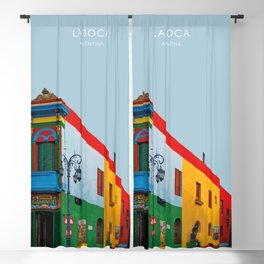 La Boca, Buenos Aires, Argentina Travel Artwork Blackout Curtain