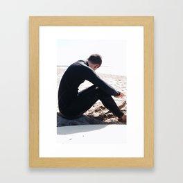 Suited To Surf Framed Art Print