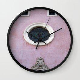 Pink Spanish Facade Wall Clock