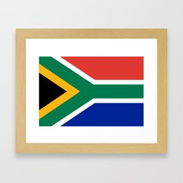 Flag of South Africa, Authentic color & scale Framed Art Print