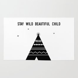Stay Wild Beautiful Child Rug