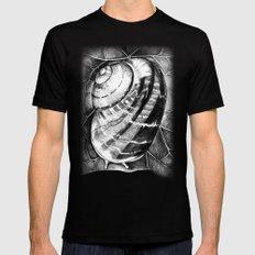 Snail Mens Fitted Tee MEDIUM Black
