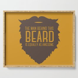 Behind the Beard Serving Tray