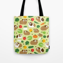 Guinea Pig And Its Treats Tote Bag