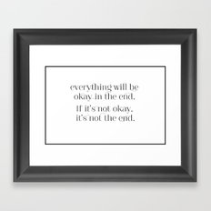 Inspiration to live by Framed Art Print