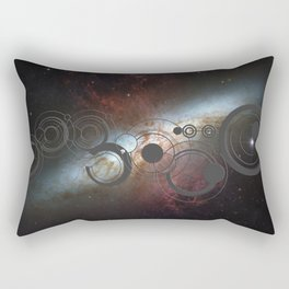 Doctor Who Allons-y Gallifrey  with the Starburst Galaxy M82 Rectangular Pillow