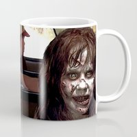 three of the possessed Mugs featuring POSSESSED REGAN IN FORREST GUMP by Luigi Tarini