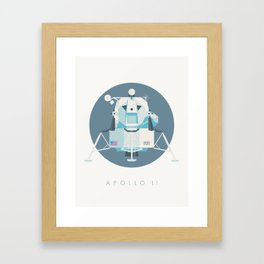 Apollo 11 Lunar Lander Module - Text Slate Framed Art Print