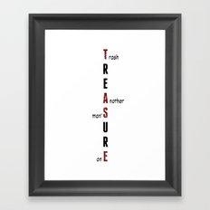 BWR No. 2 Treasure (white) Framed Art Print