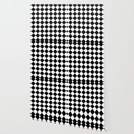 Contemporary Black & White Gingham Pattern - Mix and Match Wallpaper