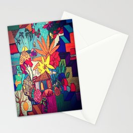 Flowers and colors Stationery Cards