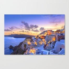 Santorini #society6 #decor #buyart Canvas Print