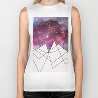 outer space Biker Tanks featuring Outer Space by FlurinaJT
