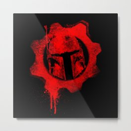 Gears of Fett Metal Print