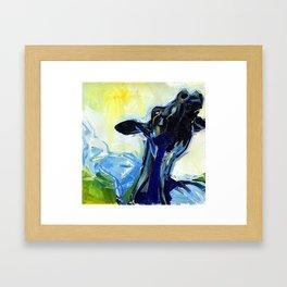 mad cow Framed Art Print