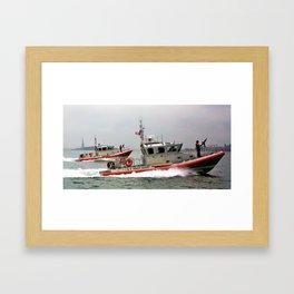 On Duty Framed Art Print