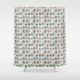 dead girl and roses Shower Curtain
