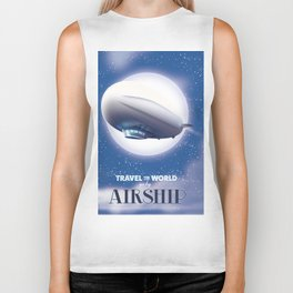 Travel the World - go by airship Biker Tank