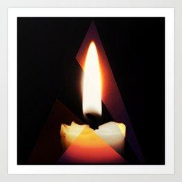 Tri-Flame Art Print