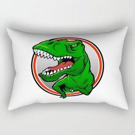 Angry Tyranosaurus rex  Rectangular Pillow